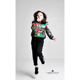 Wholesale Cool Korean Boy - Wholesale-2015 Winter New children's clothing 2015 autumn and winter new Korean version of casual cool camouflage sweater tidal range