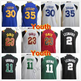 Wholesale Boys Red Tops - Stitched North Carolina #23 College Jersey Youth Basketball 2018 Jerseys 11 Kyrie Irving Kid 35 Kevin Durant Youth Embroidery Top Quality