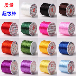 Wholesale Stretchy Beading Cord Wholesale - 60M 2362in crystal Cord Elastic Beads Cord Stretchy Thread String DIY Jewelry Making Beading Wire Ropes 25colors choose Jewelry string cord