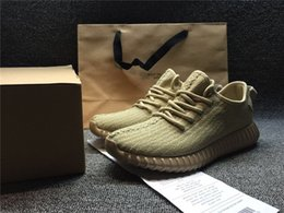 Wholesale Photo Running - Genuine 350 Boosts Store Buy 350 Shoes online enjoy Shoes's Photos Kanye West Wailly 350 Boost with box Oxford Tan Turtle Dove Grey Sneakers