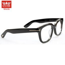 Wholesale Big Frame Reading Glasses - Wholesale-vintage Brand Tom TF5179 Big Round designer Reading glasses Frame Men Women fit myopia prescription Sunglasses optical lens