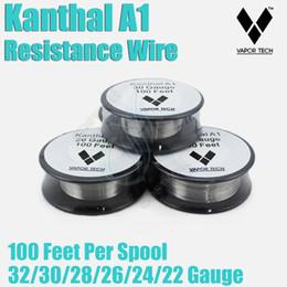 Wholesale Wire 24 Gauge - Original VAPOR TECH KanthalA1 Resistance Wire Nichrome 30 Feet 22 24 32 awg Gauge vape mods RDA e cigarette atomizer RBA Vapor DIY pre coil