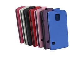 Caso para 5s mini online-Monedero de cuero PU caso de la cubierta del tirón vertical con el portatarjetas para el iPhone 5S 5C 6 Plus galaxia S3 S4 S5 S6 Mini Edge Nota 3 4 A3 A5 A7