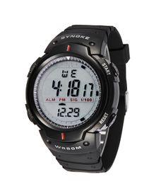 Wholesale Wholesale Watches Man - New Fashion Sports Men Wrist Watch LED Electronic Digital Watch Waterproof SYNOKE Brand Watches Drop Free Shipping