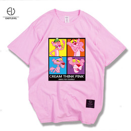 Wholesale Japanese Slimming Shirt - Pink Leopard Tee Japanese Male Cotton Short Sleeved T-shirt Slim Small Fresh and Simple Fashion of Printing All-match Shirt Collar