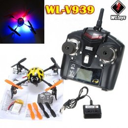 Wholesale Rc Beetle - Wholesale-V939 WLToys Beetle ladybird 4CH RC 2.4Ghz 6-axis 3D GYRO UFO Mini Helicopter Aircraft Quad XCopter Quadcopter Free Shipping