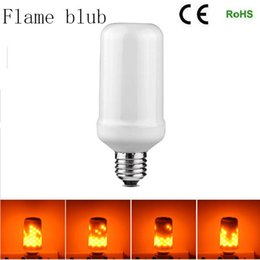 Wholesale Christmas Candle Lamp - E27 2835SMD 7.5W LED Flame Effect Fire Light Bulbs Flickering Emulation Decorative Flame Lamps For Christmas Halloween Decoration