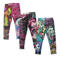 Wholesale Cartoon Girl Legging Tights - 2015 Girls kids baby Monster High Leggings Zombie Girl Cartoon Legging Pants Clothing clothes legging wholesale