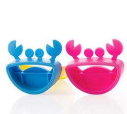 Wholesale Pop Up Bathroom Sink Drain - Cute Bathroom Sink Faucet Chute Extender Crab Children Kids Washing Hands Blue Yellow Pink