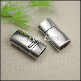 Wholesale End Caps For Leather Bracelets - Wholesale-25PCS Strong End Caps Magnetic Clasps ( Inside 10mmx5mm Diameter ) for Leather Bracelet Jewelry Findings