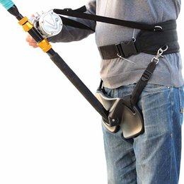 Wholesale Big Fishing Rods - High Quality Big Fish Sea Fishing Fighting Belt Rod Holder Stand Up Adjustable Belt Waist Rod Holder Fishing Tackles Tools Y1788