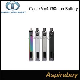 Wholesale Itaste Vv Wholesale - 100% Original Innokin iTaste VV4 VV4-M Battery 1000mah Variable Wattage VW Mode 6-15W VV 4.0 E Cigarettes Battery 4 Colos Available