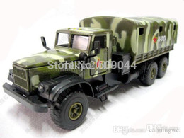 Wholesale Army Toy Trucks - Wholesale-Wholesale retail New 155 Russian KRAZ 255 Army Military Truck Siku Size Sound And Light Work
