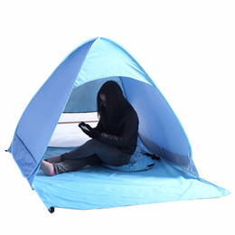 Wholesale Fish Popping - Wholesale- Beach Tent Ultralight Folding Tent Pop Up Automatic Open Tent Family Tourist Fish Camping Anti-UV Fully Sun Shade