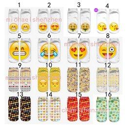 2019 estrangeiros engraçados 32 Design DHL 3D mulheres homens emoji meias curtas Crianças algodão novidade Criativa Engraçado alienígena QQ expressão sorrindo rosto meias B001 estrangeiros engraçados barato