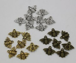 Wholesale Wholesale Pendant Charms Bronze - MIC 150pcs Antique silver   Gold   Bronze Zinc Alloy Lovely Bee Charm Pendant 16x20mm DIY Jewelry