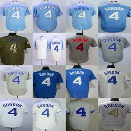 Wholesale American Baseball Orange - Factory Outlet American League Kansas City 4 Alex Gordon Grey Blue Green Beige Cool Base Flex Base Stitched Best Quality Baseball Jerseys