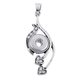 Wholesale Mom Diamond - 2016 New metal Ginger Snap Button Necklace with Crystal Jewelry Interchangeable noosa heart mom moon necklace