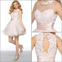 Wholesale Short Fluffy Lace Dresses - Romantic Elegant Short Mini occasion Dresses 2015 Fashion Short Fluffy Prom Dresses For Girls Homecoming Gowns Custom Made