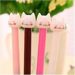 Wholesale Animal Ink Pens - WHOLESALE!cartoon animal cat style office gel-ink pen   kawaii korean stationery office school supplies gel pen 36pcs lot ARC284