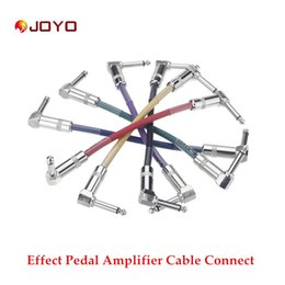 Wholesale Guitar Connect Cable - 6pcs Joyo CM-11 Colorful Guitar Cable Connect Effect Pedal Amplifier Amp for Electric Guitar Top Quality Free Shipping