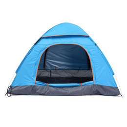 Wholesale Backpacking Tents Sale - Wholesale- Hot Sale 1pcs 3-4 Person Automatic Quick Opening Tent Outdoor Camping Tent 170T Fulmargin Three Season Tourist Tent