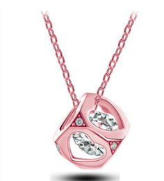 Wholesale Partner Party - 2015 new stereo love partner Arrows zircon crystal necklace short paragraph small box jewelry Pendant Necklaces