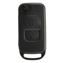 Wholesale Mercedes Benz Remote - 2 Buttons Flip Remote Uncut Blade Remote Car Key Case Shell Fob For Mercedes Benz order<$18no track