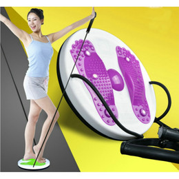 Wholesale Twister Plates - Wholesale- Twister Plate Twist Board Magnet Waist Wriggled Wriggling Plate Twisting Disk With Cord Waist Arm Exercise Fitness Equipment