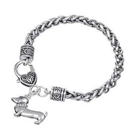 Wholesale Dachshund Pendant - New Design Jewelry DIY Dachshund Dog Shape Pendant Crystal Hand Jewelry Sets Man & Woman Bracelet Bangle Cuff Wristbands