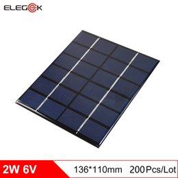 Wholesale Solar Cells 2w - DHL Shipping 200Pcs Lot ELEGEEK 2W 6V DIY Solar Cell Panel Polycrystalline PET+EVA Laminated Solar Panel for Education and Solar System