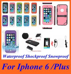 Wholesale Free Galaxy S3 Cases - Waterproof Shockproof Snowproof Hard Plastic Soft TPU Case Cover Skin for Iphone 6 Plus 5 5S 5C 4 4S Samsung Galaxy S3 S4 S5 Free Shipping