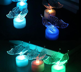 Wholesale Led Christmas Lights Dragonfly - 7 Colors Changing Light LED Butterfly Light LED Night Light Dragonfly Holiday Lighting Christmas Lights Decoration