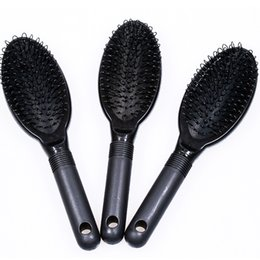 Wholesale Tools For Beauty Salon - Good Loop Brush Hair Brush Hair Comb BLACK COLOR for human hair extensions or wigs  beauty salon tool
