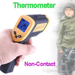 Wholesale Digital Display Thermostat - Electronic 2016 New Non-Contact Infrared Laser LCD Display Digital IR Thermometer Thermostat Termometro Temperature Meter