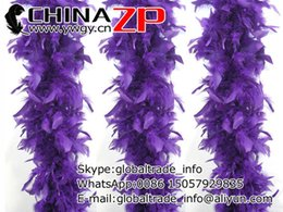 Wholesale Wholesale Feather Boas Cheap - Wholesale and Retail from Factory www.ywgy.cn 2yards lot Cheap 40g Dyed Purple Turkey Feather Chandelle Boa