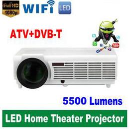 Wholesale Video Prices - Factory Price !!! LED96 5500lumens Video HDMI USB TV 1280x800 Full HD 1080P Home Theater 3D LED projector Projetor proyector beamer DHL