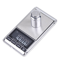 Wholesale Gram Weighing Scales - Mini Digital Jewelry Balance Pocket Weighing Scales Grams White Backlight with Protective Pouch 100g x 0.01g H4117