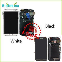 Wholesale Digitizer For Galaxy Note - Excellent For Samsung For Galaxy Note 2 N7100 N7105 i317 T88 Lcd Digitizer Display Screen Assembly Grey or white with Frame Free Shipping