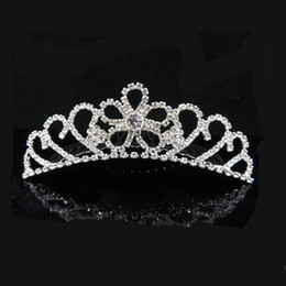 Wholesale Lace Headpieces For Brides - Gorgeous Sparkling Silver Big Wedding Tiaras Hairband Crystal Bridal Crowns For Brides Hair Jewelry Headpiece For Women