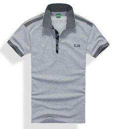 Wholesale Mens Brand Polo Shirt - Hot Sale 2018 Brands Mens POLO Shirts Cotton Business Short Sleeve Polo Solid Color Male movement Casual Polo T-Shirt 14 Colors boss