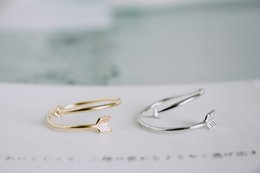Wholesale Gold Knuckle Ring Set - Fashion jewelry cute Arrow finger ring stretch rings for women ladie's knuckle ring wholesale 10pcs lot Free shipping