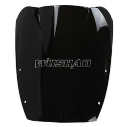 Wholesale 95 Suzuki - Motorcycle Double Bubble Windshield WindScreen For 1987-1997 Suzuki GSX600F GSX750F GSX 600F 750F Katana 92 93 94 95 96 97 Black