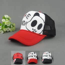 Wholesale I Love Balls - Wholesale-I LOVE PANDA letter mesh cap hip-hop summer sun-shading hat baseball Truck cap 2015 fashion for women men CAPW031