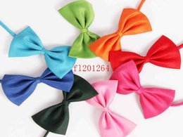 Wholesale Cheap Neck Bow Ties - 100pcs lot Free shipping New arrival Cheap Pet Neck Tie Dog Bow Tie Bowtie Cat Tie Pet Grooming Supplies colorful