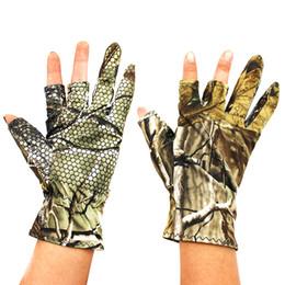 2019 беговые перчатки Профессиональные рыболовные перчатки спорта на открытом воздухе камуфляж 3 пальца вырезать мужчины камуфляж перчатки мягкие теплые противоскользящие водонепроницаемый