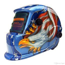 Schweißstäbe online-Auto Verdunkelung Solar Eagle Schweißschutzhelm Maske mit Schleifen Funktion Ideal für ARC / MIG / TIG / Stick Schweißen PIT_105