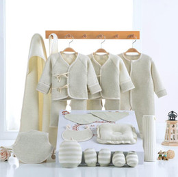 Wholesale Baby Products Brands - 18pcs 1set New baby Clothing Set Infant Outfits Clothes Cartoon Cotton newborn baby products cotton clothes baby shoes KKA3562