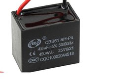 Wholesale Fans Ac - 10PCS CBB61 starting capacitance AC 450V 6uF -20uf, wire Terminal Ceiling Fan Motor Run Capacitor
