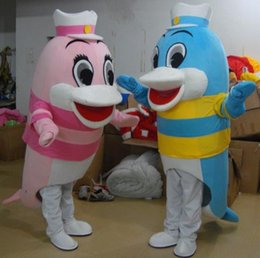 Wholesale Mascot Costumes Usa - Hot Fashion Dolphins Mascot FREE SHIPPING USA Halloween GRU DISPICABLE ME